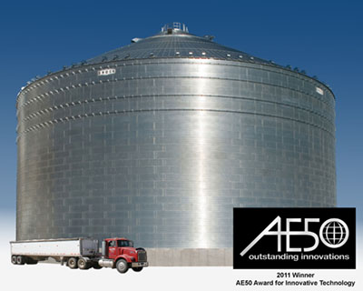 Brock Grain Systems' M-SERIES™ Commercial Grain Storage Bins Receive